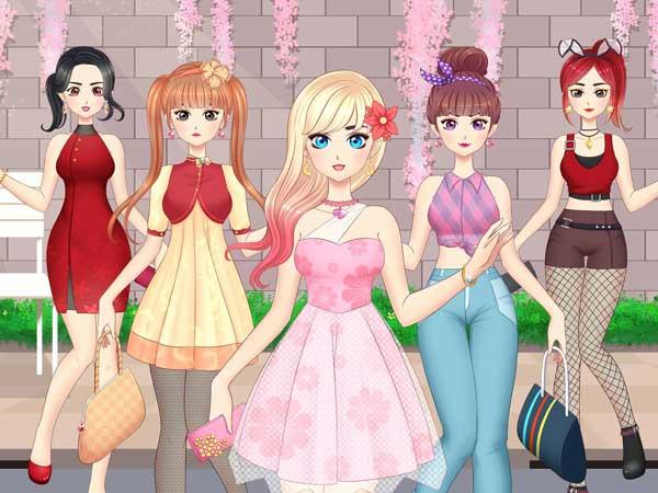 Anime Gadis Mode Rias Berdandan