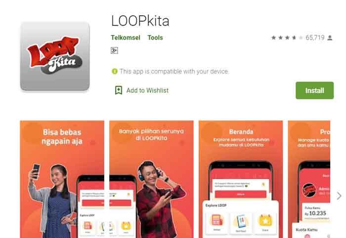 Aplikasi Loop Kita