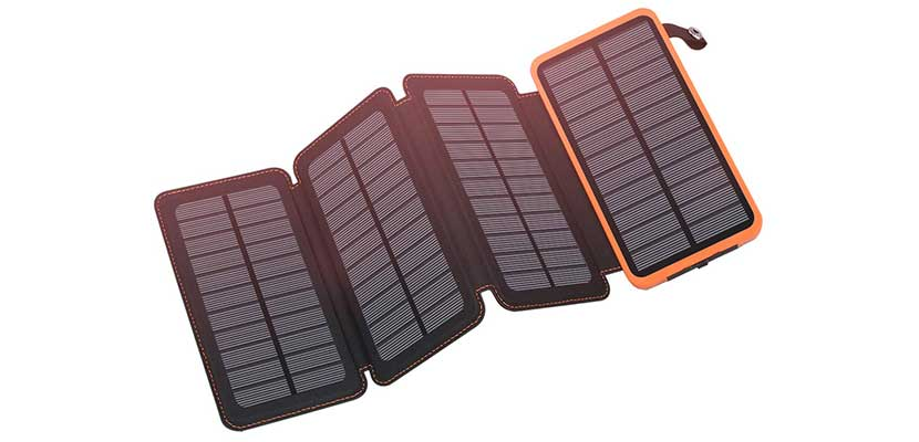 FEELLE 25.000mAh Outdoor Waterproof Solar Phone Charger