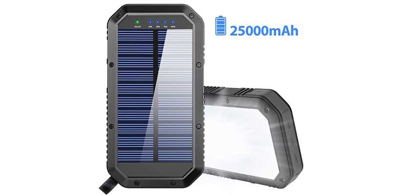 GoerTek 25.000mAh Portable Solar Charger