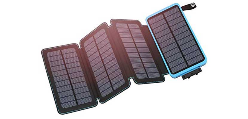 Hiluckey 25.000mAh Portable Solar Charger