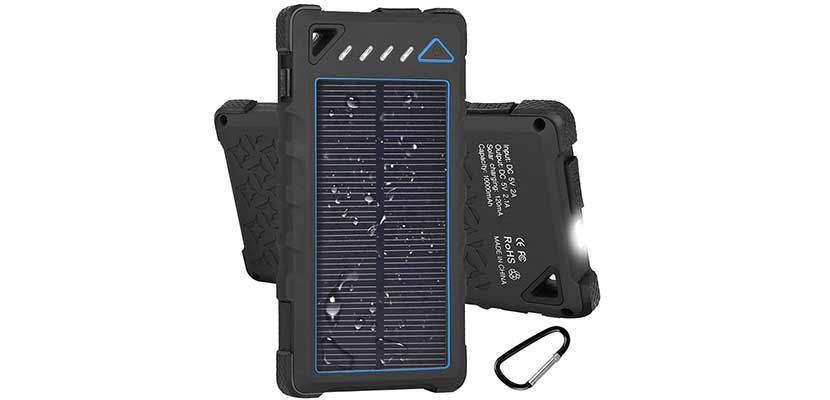 Hobest 10.000mAh Waterproof Outdoor Solar Charger