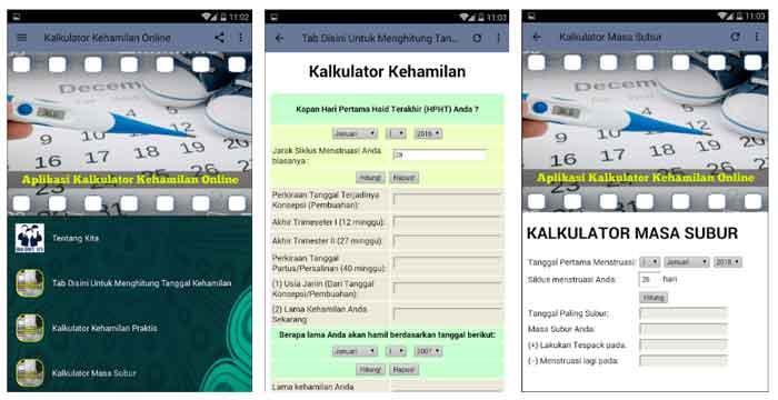 Kalkulator Kehamilan Online