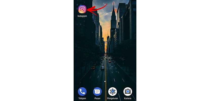 Buka Instagram di smartphone