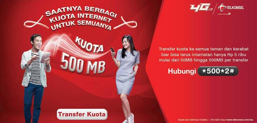 Cara Transfer Paket Data Telkomsel Terlengkap