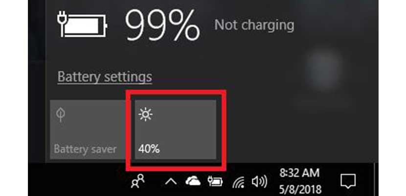 Menggunakan Slider Windows 10
