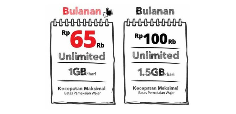 Paket Unlimited Bulanan FUP 15 GB
