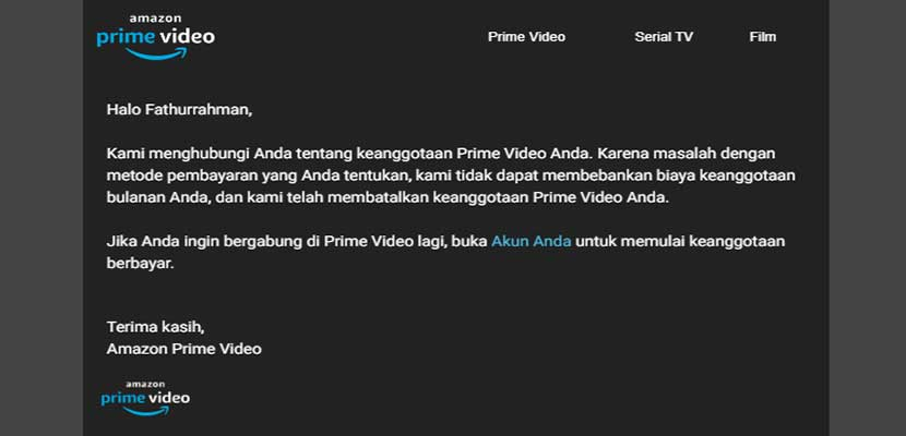 Berhenti Berlanggan Amazon Twitch Prime