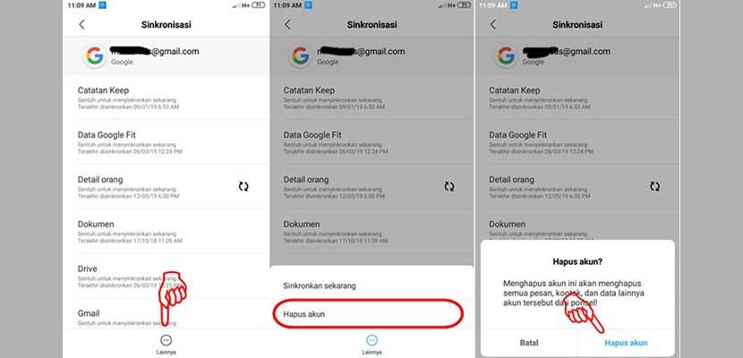 Cara Menghapus Akun Google Pada MIUI