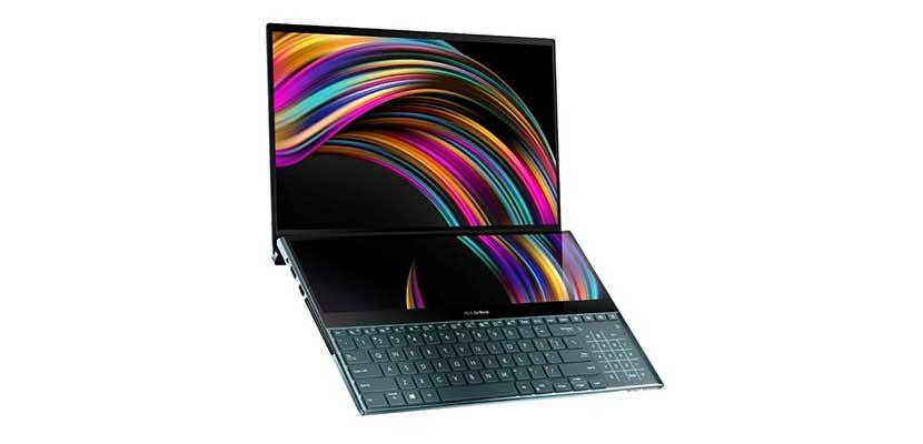Layar ZenBook Pro Duo