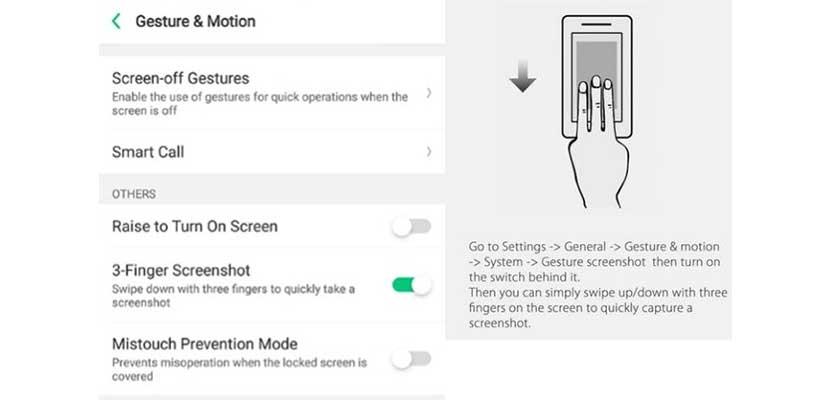 Screenshot Menggunakan Gesture 3 Jari
