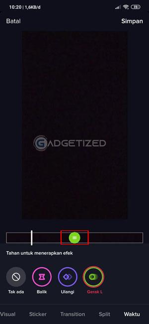 Atur Waktu Slowmo Android