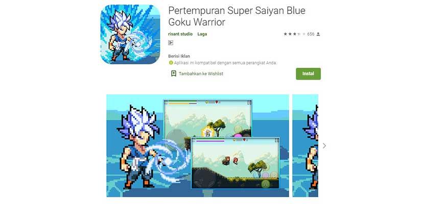 Battle of Super Saiyan Blue Goku Warrior