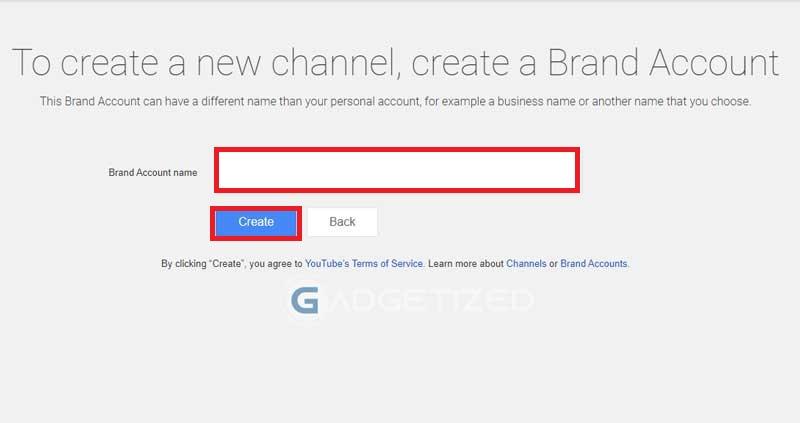 Buat Nama Channel