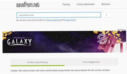 Buka Web SaveFrom.net