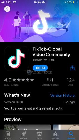 Download TikTok iPhone