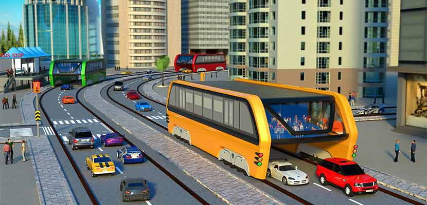 Elevated Bus Simulator: Futuristic City Bus Games