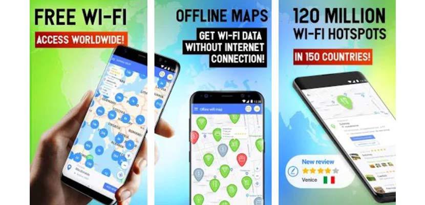 Free WiFi App WiFi map passwords hotspots