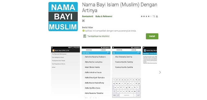Nama Bayi Islam Muslim Dengan Artinya