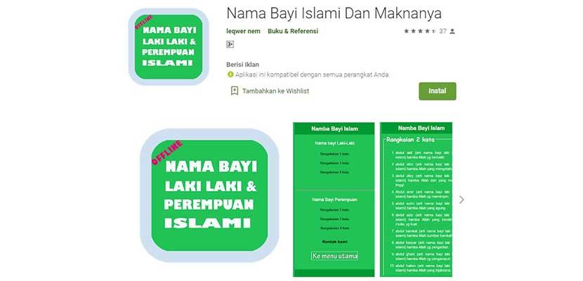 Nama Bayi Islami dan Maknanya