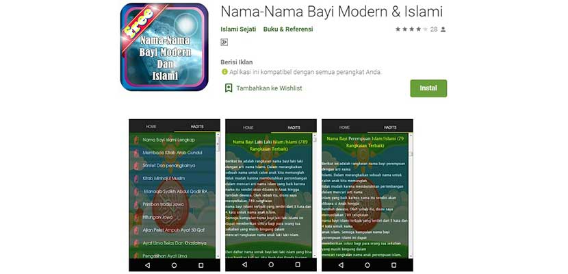 Nama Nama Bayi Modern Islami