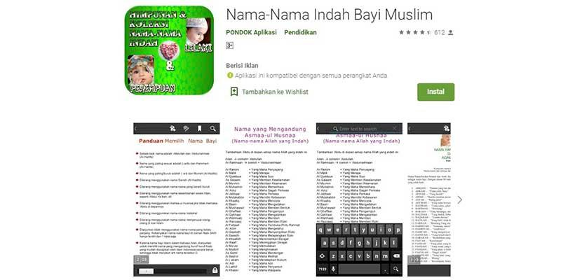 Nama Nama Indah Bayi Muslim