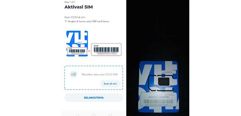 Scan ICCID SIM