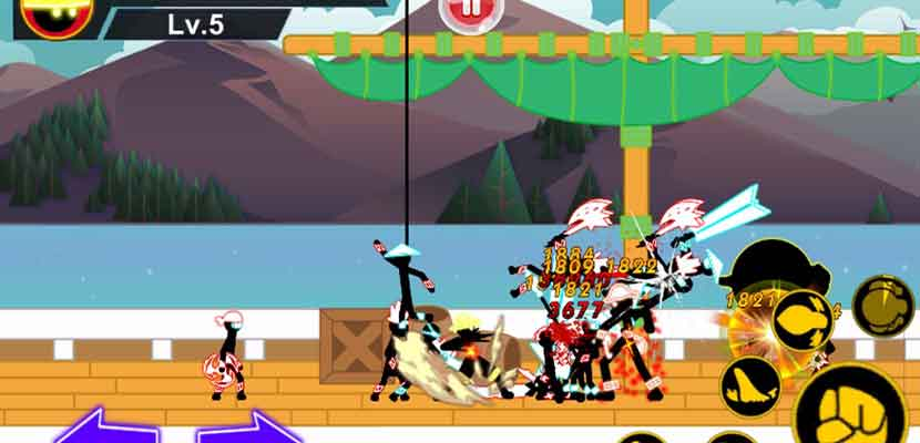 Stickman Hero Pirates Fight