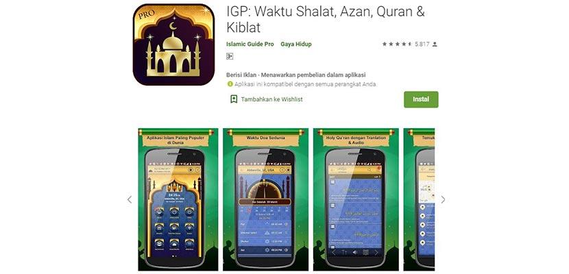 Aplikasi Adzan IGP Prayer Times Al Quran Adzan Qibla Finder