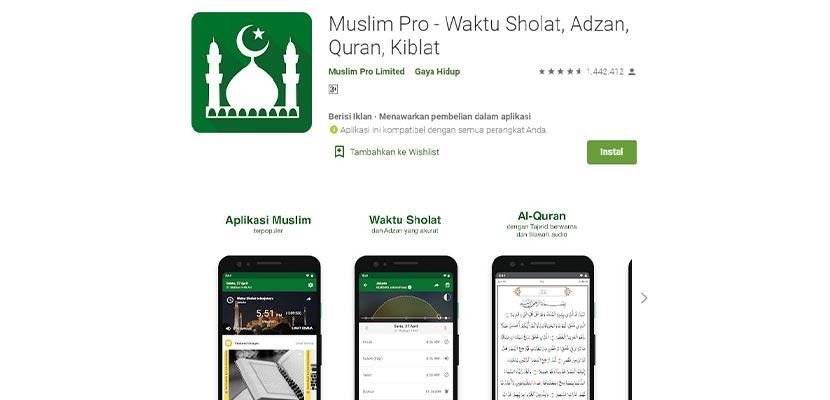 Aplikasi Adzan Muslim Pro Prayer Times Adzan Quran Qibla