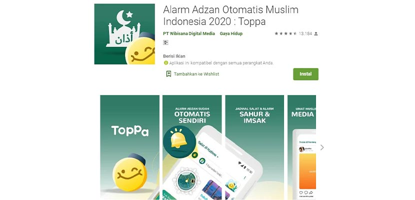 Aplikasi Alarm Adzan Otomatis Muslim Indonesia 2020 Toppa