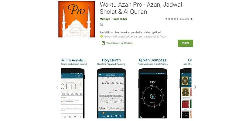 Aplikasi Ezan Vakti Pro Adzan Prayer Times Quran