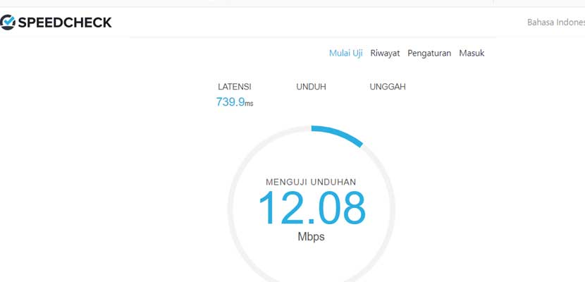 Cara Cek Kecepatan Internet Android Speedcheck.org