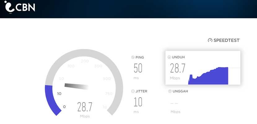Cara Cek Kecepatan Internet Android Via Speedtest.cbn .id