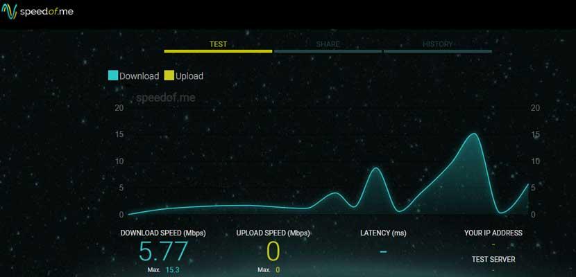 Cek Kecepatan Internet Android Via Speedof.me