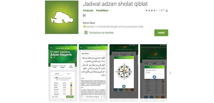 Jadwal Adzan Sholat Qiblat