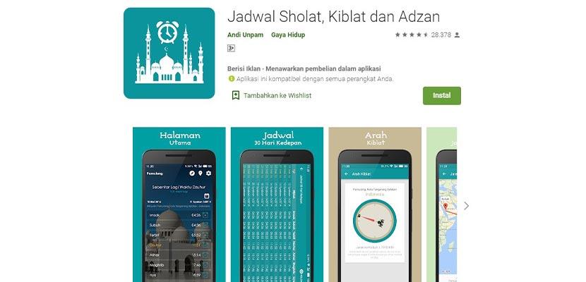 Jadwal Sholat Kiblat dan Adzan