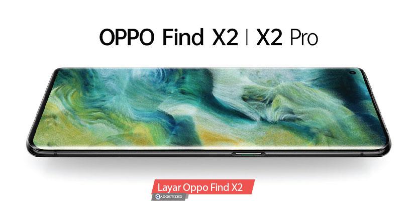 Layar Oppo Find X2