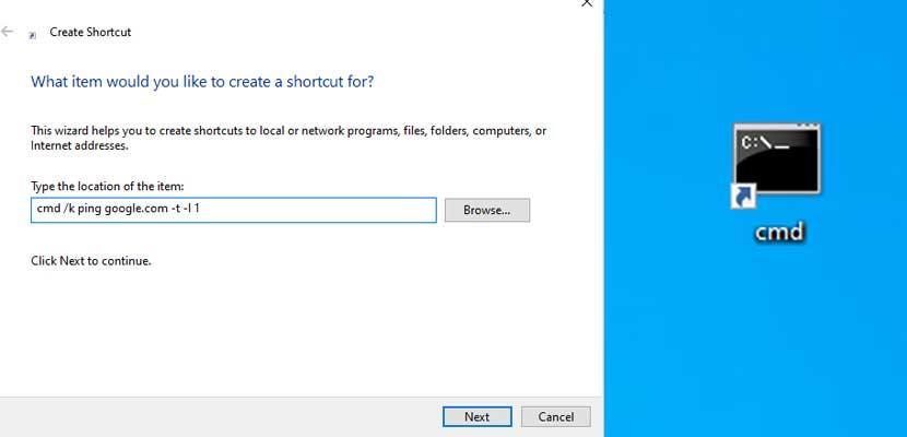 Lewat Shortcut PC