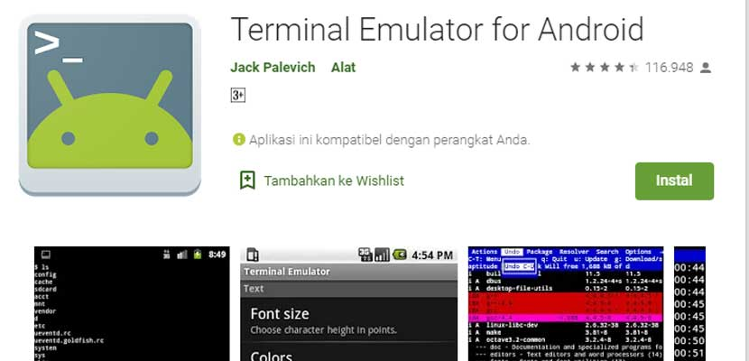 Lewat Terminal Emulator for Android