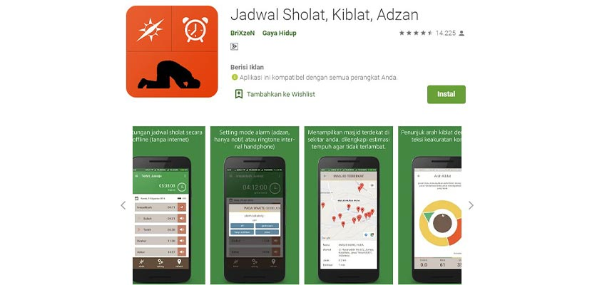Prayer Times Qiblah Adzan