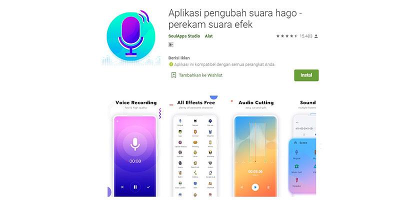 Aplikasi Pengubah Suara Hago Perekam Suara Efek