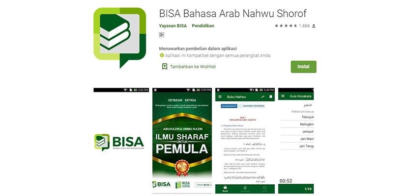 Bisa Bahasa Arab Nahwu Shorof