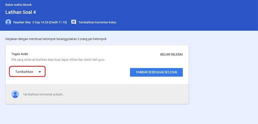 Cara Menandai Tugas di Google Classroom