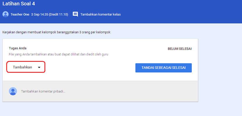 Cara Mengirim Kuis Lewat Google Classroom