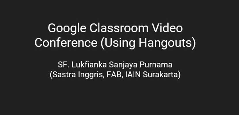 Cara Video Conference di Google Classroom