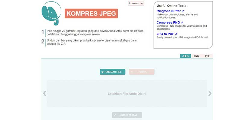 Compress JPEG PNG
