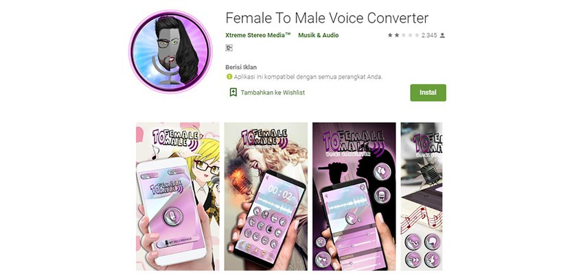 Female To Male Voice Converter