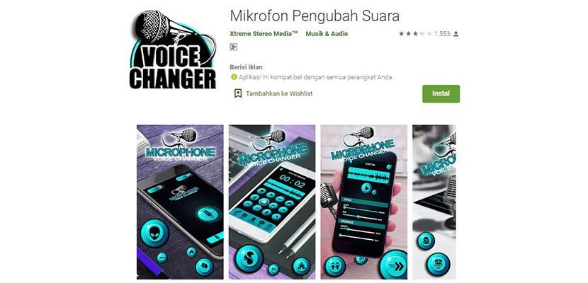 Mikrofon Pengubah Suara
