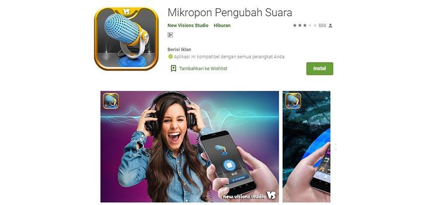 Mikropon Pengubah Suara